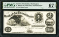 Washington, DC- Bank of the United States $2 Nov. 25, 1852 as G12a Proprietary Proof PMG Superb Gem Unc 67 EPQ