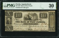 Obsoletes By State:Florida, Apalachicola, FL- Bank of West Florida $10 Nov. 3, 1832 G32 PMG Very Fine 30.. ...