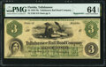 Obsoletes By State:Florida, Tallahassee, FL- Tallahassee Rail Road Company $3 18__ Remainder Benice 113 PMG Choice Uncirculated 64 EPQ.. ...