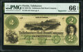 Obsoletes By State:Florida, Tallahassee, FL- Tallahassee Rail Road Company $2 18__ Remainder Benice 111 PMG Gem Uncirculated 66 EPQ.. ...