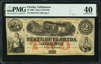 Tallahassee, FL- State of Florida $2 Mar. 1, 1863 Cr. 18 PMG Extremely Fine 40