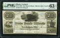 Lockport, IL- Illinois & Michigan Canal Fund at State Bank of Illinois $2.50 Mar. 1, 1841 PMG Choice Uncirculated...