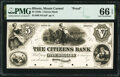 Obsoletes By State:Illinois, Mount Carmel, IL- Citizens Bank $5 18__ as G6a Proof PMG Gem Uncirculated 66 EPQ.. ...