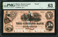 Obsoletes By State:Illinois, Mount Carmel, IL- Citizens Bank $5 18__ as G6a Proof PMG Choice Uncirculated 63.. ...