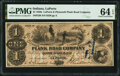 Obsoletes By State:Indiana, La Porte, IN- La Porte & Plymouth Plank Road Company $1 June 3,1857 Wolka 1210-03 PMG Choice Uncirculated 64 EPQ.. ...