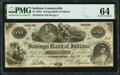 Obsoletes By State:Indiana, Connersville, IN- Savings Bank of Indiana $1 Aug. 23, 1854 G2a Wolka 0425-01 PMG Choice Uncirculated 64.. ...
