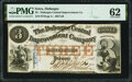 Obsoletes By State:Iowa, Dubuque, IA- Dubuque Central Improvement Company $3 Feb. 1, 1858 Oakes 49-2 PMG Uncirculated 62.. ...