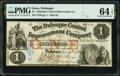 Obsoletes By State:Iowa, Dubuque, IA- Dubuque Central Improvement Company $1 Jan. 15, 1858 Oakes 49-1 PMG Choice Uncirculated 64 EPQ.. ...