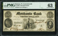 Obsoletes By State:Kansas, Fort Leavenworth, KS (Terr.)- Merchants Bank $3 Aug. 21, 1854 G4 Whitfield Q 131 PMG Choice Uncirculated 63.. ...