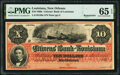 Obsoletes By State:Louisiana, New Orleans, LA- Citizens' Bank of Louisiana $10 186_ Remainder G26a PMG Gem Uncirculated 65 EPQ.. ...