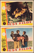 """Movie Posters:Action, Test Pilot (MGM, 1938). Very Fine. Lobby Cards (2) (11"""" X 14""""). Action.. ... (Total: 2 Items)"""