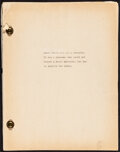 """Movie Posters:Miscellaneous, South Haven (1940s). Very Fine. Manuscript Book in three parts (273 Pages, 8.5"""" X 11""""). Miscellaneous.. ..."""