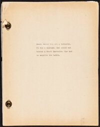"South Haven (1940s). Very Fine. Manuscript Book in three parts (273 Pages, 8.5"" X 11""). Miscellaneous"