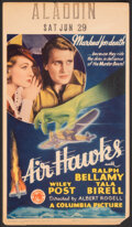 """Movie Posters:Action, Air Hawks (Columbia, 1935). Very Fine-. Midget Window Card (8"""" X 14""""). Action.. ..."""