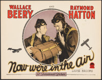 "Now We're in the Air (Paramount, 1927). Very Fine+. Lobby Card (11"" X 14""). Comedy"