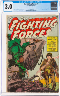 Our Fighting Forces #1 (DC, 1954) CGC GD/VG 3.0 Cream to off-white pages