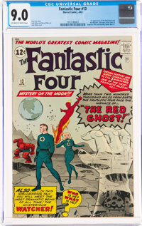 Fantastic Four #13 (Marvel, 1963) CGC VF/NM 9.0 Off-white to white pages