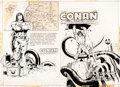 Original Comic Art:Covers, Neal Adams Conan the Barbarian #PR-31 The Crawler in the Mists [Book & Record Set] Wraparound Cover Or...