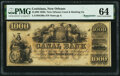 Obsoletes By State:Louisiana, New Orleans, LA- New Orleans Canal & Banking Co. $1000 18__ Remainder G80a PMG Choice Uncirculated 64.. ...