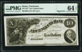 Obsoletes By State:Maine, Fairmount, ME- New England Bank $10 Oct. 1, 1857 Remainder G2 Wait 1 PMG Choice Uncirculated 64 EPQ.. ...