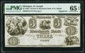 Obsoletes By State:Michigan, St. Joseph, MI- Farmers & Merchants Bank of St. Joseph $3 18__ Remainder G6 Lee STJ-3-4 PMG Gem Uncirculated 65 EPQ.. ...