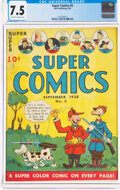 Golden Age (1938-1955):Miscellaneous, Super Comics #5 (Dell, 1938) CGC VF- 7.5 Off-white to white pages....