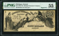 Obsoletes By State:Michigan, Detroit, MI- Michigan Insurance Company $50 18__ Remainder G28a Lee DET-4-7 PMG About Uncirculated 55.. ...