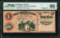 Obsoletes By State:Michigan, Detroit, MI- State Bank of Michigan $1 18__ Remainder G2a Lee DET-10-1 PMG Gem Uncirculated 66 EPQ.. ...