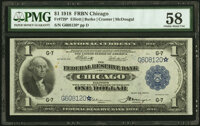 Fr. 729* $1 1918 Federal Reserve Bank Note PMG Choice About Unc 58
