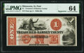 Obsoletes By State:Minnesota, St. Paul, MN- Treasurer of Ramsey County $1 18__ Remainder Hewitt C320-D1-2 PMG Choice Uncirculated 64.. ...
