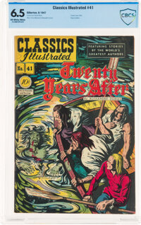 Classics Illustrated #41 Twenty Years After - First Edition (Gilberton, 1947) CBCS FN+ 6.5 Off-white to white pages