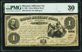 Jefferson City, MO- Union Military Bond $1 Sep. 20, 1865 Cr. UG21 PMG Very Fine 30