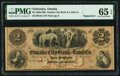 Obsoletes By State:Nebraska, Omaha, NE (Terr.)- Omaha City Bank and Land Co. $2 18__ Remainder G4a PMG Gem Uncirculated 65 EPQ.. ...