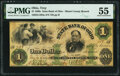 Obsoletes By State:Ohio, Troy, OH- State Bank of Ohio, Miami County Branch $1 May 22, 1862 Wolka 2590-09 PMG About Uncirculated 55.. ...