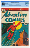 Golden Age (1938-1955):Superhero, Adventure Comics #61 (DC, 1941) CBCS Conserved VG 4.0 Off-white to white pages....