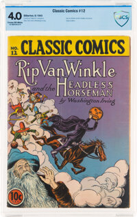 Classic Comics #12 Rip Van Winkle and The Headless Horseman - First Edition (Gilberton, 1943) CBCS VG 4.0 Cream to off-w...