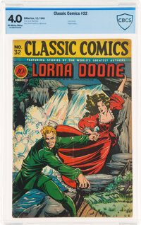 Classic Comics #32 Lorna Doone - First Edition (Gilberton, 1946) CBCS VG 4.0 Off-white to white pages