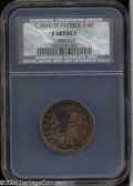 (1670-75) FARTH St. Patrick Farthing Fine 12 Details, Corroded, NCS. Breen-208. Chestnut-brown centers cede to darker pa...