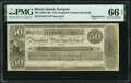 Obsoletes By State:Rhode Island, Newport, RI- New England Commercial Bank $50 18__ Remainder G94 Durand 634 PMG Gem Uncirculated 66 EPQ.. ...