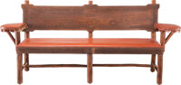 Thomas Molesworth (American, 1877-1977) Bench from Old Lodge, Glenwood Springs, CO, circa 19