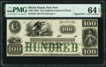 Obsoletes By State:Rhode Island, Newport, RI- New England Commercial Bank $100 18__ Remainder G110a Durand 640 PMG Choice Uncirculated 64 EPQ.. ...