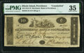 Obsoletes By State:Rhode Island, Providence, RI- Merchants' Bank in Providence Counterfeit $10 May 29,1818 C34 Durand 1666 PMG Choice Very Fine 35.. ...
