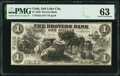 Obsoletes By State:Utah, Salt Lake City, UT- Drovers' Bank $1 July 1, 1856 G2a Rust 83 PMG Choice Uncirculated 63.. ...
