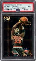 Basketball Cards:Singles (1980-Now), 1996 Topps NBA Stars Michael Jordan (Finest-Atomic Refractor) #24 PSA Mint 9....