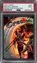 Basketball Cards:Singles (1980-Now), 1997 Finest Michael Jordan (Refractor with Coating) #287 PSA Mint 9....