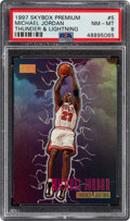 Basketball Cards:Singles (1980-Now), 1996 Skybox Premium Michael Jordan (Thunder & Lightining) #5 PSA NM-MT 8. ...