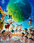 Memorabilia:Disney, Carl Barks An Astronomical Predicament Signed Limited Edition Lithograph Print #219/345 (Another Rainbow, 1990). ...