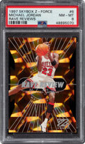 Basketball Cards:Singles (1980-Now), 1997 Z-Force Michael Jordan (Rave Reviews) #6 PSA NM-MT 8. ...