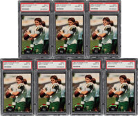 1992 Stadium Club Brett Favre PSA Graded Lot of 7