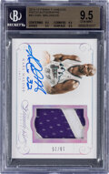 Basketball Cards:Singles (1980-Now), 2014 Panini Flawless Karl Malone (Patch Autographs) #42 BGS Gem Mint 9.5, Auto 10 - #10/25. ...